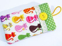 Handytasche  Colourful Cats  ~ Wunschmaß