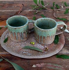 Eucalyptus cups by Barakee Pottery