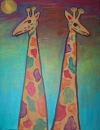 Giraffes at Whimsy Art Studio Paint Party, Giraffes, Painting For Kids, Studio, Projects, Kids Coloring, Log Projects, Blue Prints, Study