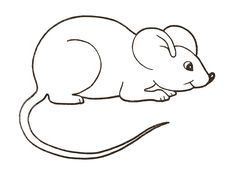 Printable rat pattern. Use the pattern for crafts