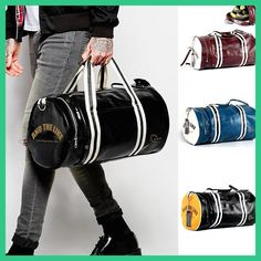 Men Soft Leather barrel Travel Bag Fashion High-Capacity Bag For Men Waterproof Shoulder Luggage Bolsa Deporte Duffel Bag