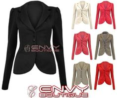 The Ponte Fashion Blazers are a fashion statement/ necessity Autumn or Spring, Winter or Summer spicing up one's fashion quotient. We here at Envy Boutique bring to you such a piece, the Mardela new Women's five button front Ponte bold shoulder ladies' Blazer Jacket. Wear it over a straight linen trouser and a pair of wedge heels; you create the hip look of the season.