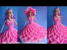 vestido tejido a crochet para muñeca, video 2 - YouTube