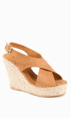 Brown Wedges // these look pretty comfy!
