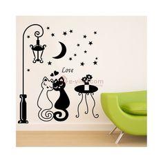 Removable Wall Stickers   Seinäkoriste - kissapari