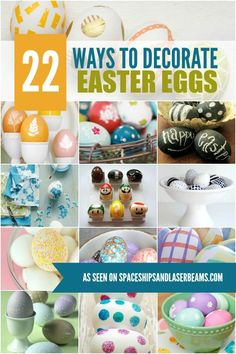 22 Easter Egg Decorating Ideas - Spaceships and Laser Beams Easter Activities, Easter Crafts For Kids, Thanksgiving Crafts, Holiday Crafts, Easter Ideas, Easter Stuff, Easter Projects, Spring Activities, Easter Decor