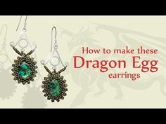 How to make these Dragon Egg earrings | Seed Beads jewellery tutorial - YouTube