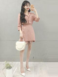 marish ulzzang fashion, korea fashion y korea Korean Girl Fashion, Korean Fashion Trends, Ulzzang Fashion, Korea Fashion, Fashion Tips For Women, Cute Fashion, Asian Fashion, Look Fashion, Fashion Outfits