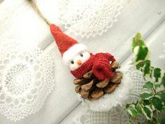 Cute Pinecone snowman