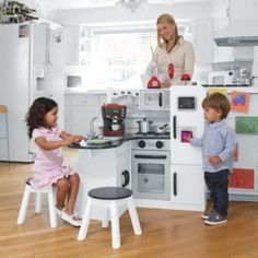 I Think This May Have To Be Lily U0026 Keganu0027s Joint Big Gift, This Kitchen Is  Awesome! KidKraft Junior Chefu0027s Play Kitchen With Stools