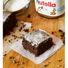 Eggless Nutella Brownies Cooking Diary By Shruti Nutella Pancakes, Nutella Brownies, Nutella Cookies, Tiramisu Brownies, Cake Cookies, Cupcakes, Desserts Without Eggs, Great Desserts, Delicious Desserts