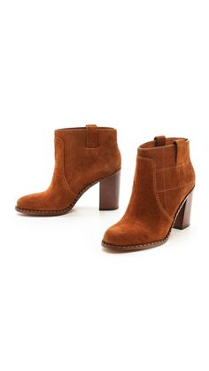 Marc by Marc Jacobs Stitched Suede Ankle Booties