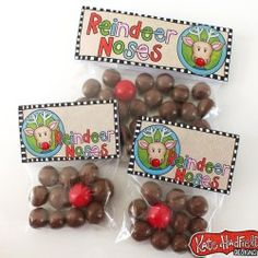 FREE Reindeer Noses Christmas bag toppers!                                                                                                                                                                                 More