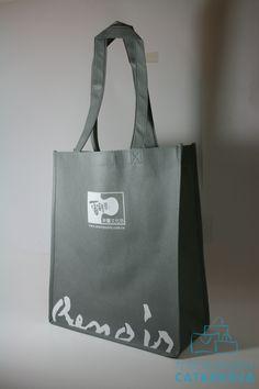 Bolsas de tela con impresión.