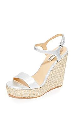 ef398466351d Evening Sandal Silver Leather and other Badgley Mischka women s footwear  for sale online.