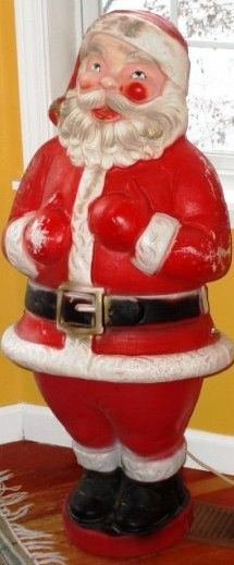 Plastic lighted Santa from early 1960's.