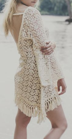 This beautiful crochet dress. Again, something to go under one of our ethnic inspired denim jackets!