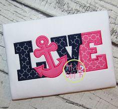 I2S Anchor Love Applique design