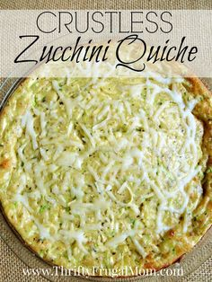 This Crustless Zucchini Quiche is frugal and delicious! Seasoned with spices and Parmesan cheese, it's melt in your mouth yummy!