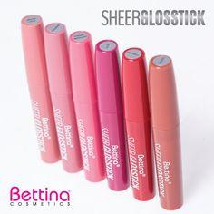 """Dale un toque de color y brillo a tus labios con los nuevos """"Sheer Glossticks"""" de #Bettina.  #makeup"""