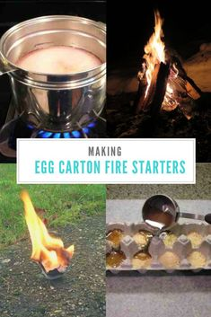 How To Make Egg Carton Fire Starters Learn how to make your own homemade fire starters using left over egg cartons. A simple DIY project that that will make lighting your next fire fast and easy! Survival Food, Outdoor Survival, Survival Prepping, Survival Skills, Survival Weapons, Survival Knife, Emergency Preparation, Survival Hacks, Wilderness Survival