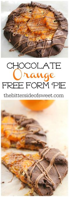 Chocolate Orange Free Form Pie | The Bitter Side of Sweet