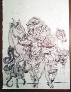 pencil drawing savannah