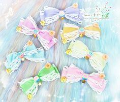 ●素和●lolita 原宿 软妹 马卡龙彩虹糖果甜甜圈 蝴蝶结头饰发夹-淘宝网