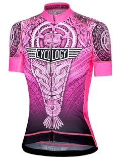 Aztec (Pink) women s cycling jersey from Cycology. Available now. FREE  SHIPPING ON eff734137
