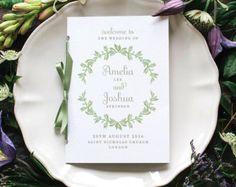 Vintage Victorian Wedding Program / Order of by twoforjoypaper