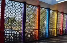Custom metal balustrades from Arrow Metal are durable, stylish and available in multiple finishes, metal types and more. These metal panels and other balustrade components can be specified and delivered all across Australia. Perforated Metal Panel, Metal Panels, Outdoor Toilet, Brick And Mortar, Custom Metal, Interior Design Inspiration, Types Of Metal, Design Projects, Interior And Exterior