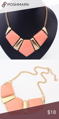 NEW STATEMENT NECKLACE New coral and gold statement necklace 4 Bidden Boutique Jewelry Necklaces