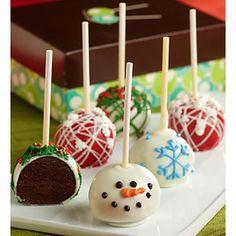 Holiday Chocolate Truffle Cake Pops  #Christmas #desserts