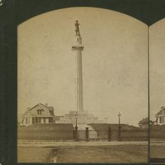 General Lee monument on Lee circle in New Orleans Louisiana in the 1880s :: State Library of Louisiana Historic Photograph Collection
