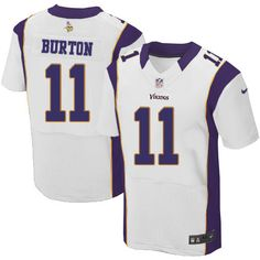 Men's Nike Minnesota Vikings #11 Stephen Burton Elite White NFL Jersey Sale