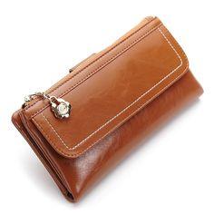$23.59 (Buy here: https://alitems.com/g/1e8d114494ebda23ff8b16525dc3e8/?i=5&ulp=https%3A%2F%2Fwww.aliexpress.com%2Fitem%2FOil-Wax-Leather-Wallets-Women-Wallet-Zipper-Pocket-Many-Card-Pockets-Long-Female-Cow-Purse-Wallet%2F32727423407.html ) Oil Wax Leather Wallets Women Wallet Zipper Pocket Many Card Pockets Long Female Cow Purse Wallet Clutch Woman Purses 6N09-03 for just $23.59