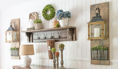 How to make rustic farmhouse style hanging lantern displays