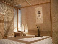 mobile tea ceremony's room / designed by Shigeru Uchida Modern Japanese Interior, Japanese Modern, Japanese Geisha, Japanese Kimono, Japan Design, Tea Room Decor, Tatami Room, Japan Interior, Japanese Tea House