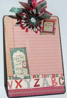 Pigtails Paper Trails scrapbook clipboard teacher gifts