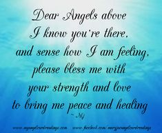 Angel Blessings and Poems with Beautiful Images - Mary Jac - Angel Quotes - Page 3 Guardian Angel Quotes, Guardian Angels, Mantra, Angel Protector, Archangel Prayers, I Believe In Angels, Blessed Quotes, Angels In Heaven, Heavenly Angels