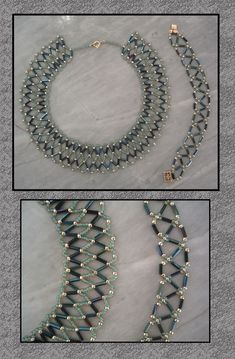 Maudra – Reincarnate by Linhorra on deviantART - schmuck ketten Beaded Necklace Patterns, Chevron Necklace, Beaded Choker, Bracelet Patterns, Beaded Earrings, Beaded Bracelets, Necklaces, Bead Jewellery, Seed Bead Jewelry