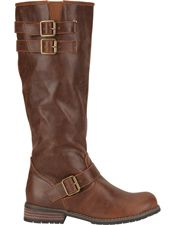 Military Womens Riding Boots - Brown