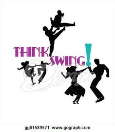 art of the 40's era | Clipart - Think swing dancers from the 50's era in silhouette. Stock ...