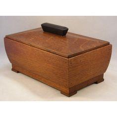 Art Deco Oak Wood Box