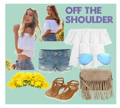 OFF THE SHOULDER by laura-ferrari-mercier on Polyvore featuring moda, Madewell, True Religion, Topshop, Accessorize and Ray-Ban
