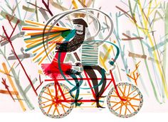 Illustrations by Yasmeen Ismail Art And Illustration, Illustrations, Pattern Illustration, Bicycle Art, Cycling Art, Heart Art, Contemporary Artists, Poster Prints, Posters
