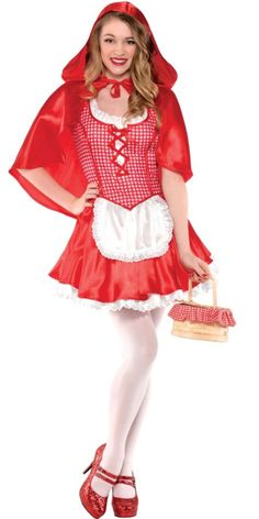 Teen Girls Sassy Red Riding Hood Costume - Party City