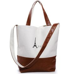 Women Retro PARIS Eiffel Tower Print Canvas Handbag is very simple yet elegant. It is a very practical bag with large capacity for you to carry stuff. #bags #fashion #womenfashion #shoulderbag #handbag #unisex #canvasbag