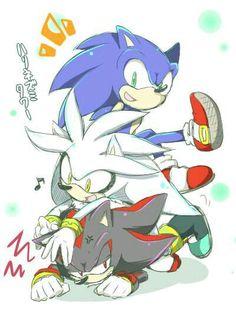 Sonic shadow y silver