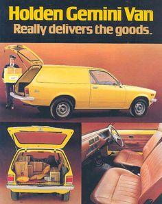 Holden Gemini Van Australian Vintage, Australian Cars, Holden Gemini, Holden Australia, Car Brochure, Ford Falcon, Old Cars, Nostalgia, Brochures